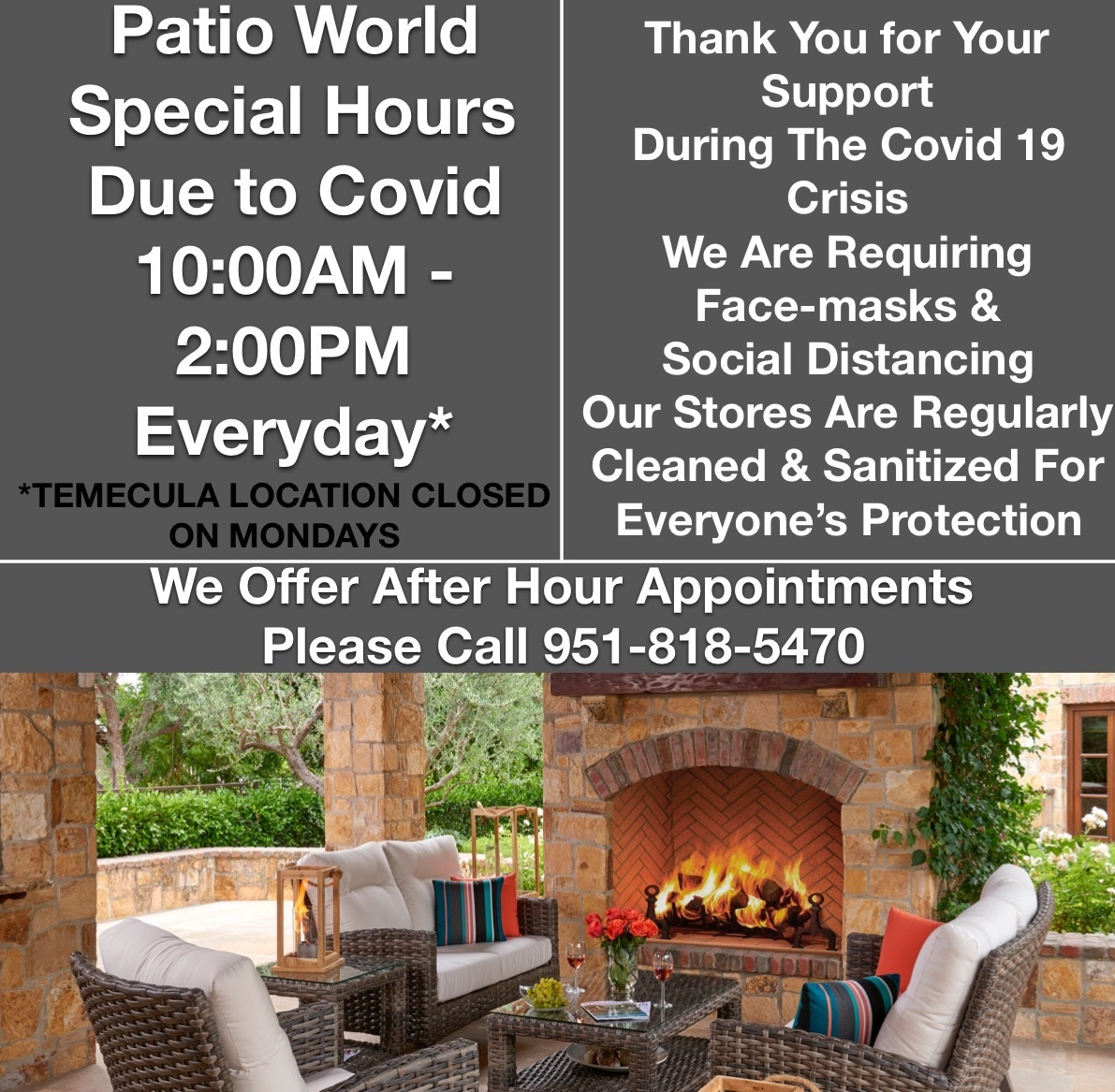 Covid-19 Hours - 10AM to 2PM